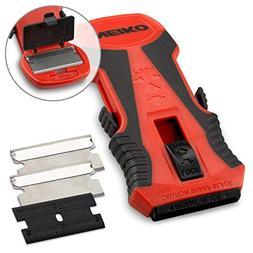 Neiko 00885A Mini Retractable Razor Scraper with Patented Bl