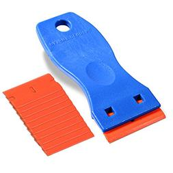 "Ehdis 1.5"" High Visibility Mini Razor Plastic Double Edged"