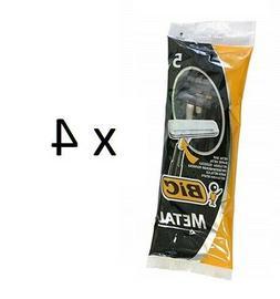 1 pack 5 pcs BIC METAL Disposable razor blades Metal bar FRE