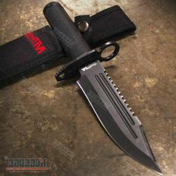 "10.75"" SURVIVAL RAMBO FIXED BLADE KNIFE Saw Back Hunters RES"