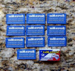 10 Super-Max Blue Diamond Titanium Double Edge Razor Blades