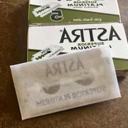 10 Astra DE Razor Blades. 2  Packs Of 5 Blades Each. Premium