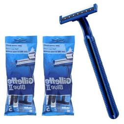 10 Gillette Disposable Razors Blue 2 Twin Blade Ultra Grip H