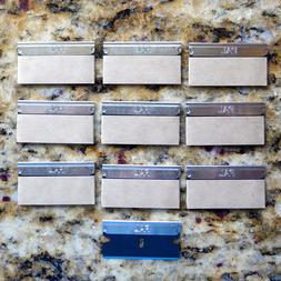 10 Pal Blue Single Edge Razor Blades by Personna 3-Facet Edg
