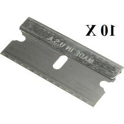 10 pc Razor Blades Single Edge Extra Sharp Super Strong.. Ma
