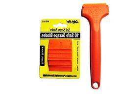 10 Plastic Double Edged Razor Blades and EZ X Razor Scraper