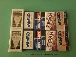10 sampler double edge razor blades feather