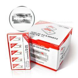 10 x Dorco ST301 Platinum Extra Double Edge Razor Blades 100