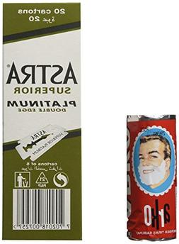 100 Astra Superior Platinum Double Edge Safety Razor Blades