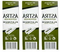 100 Astra Superior Premium Platinum Double Edge Safety Razor