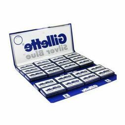 100 Blades Gillette Silver Blue Double Edge Razor Blades- Ma