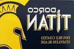 100 Dorco Titan Double edge razor blades shaving Barber Salo