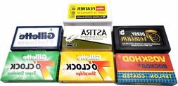 100 Double Edge Safety Razor Blades Sample Pack - 15 Brands