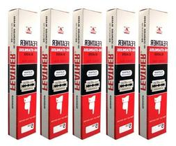 100 FEATHER  Hi-Stainless Platinum Double Edge Razor Blades