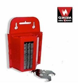 100 pc Hook Utility Shingle Razor Blades with dispenser- NEI