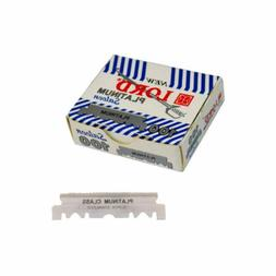 100 LORD Razor Blades  Stainless Single edge For Shavette Ba