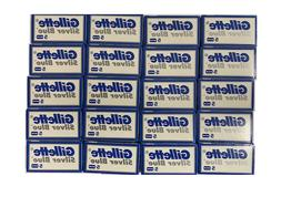 100 Silver Blue Double Edge Razor Blades Made in Russia by 7