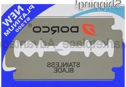 100 Dorco ST300 Double Edge Razor Blades/ Stainless Steel by
