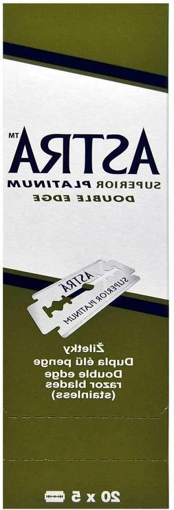 100 ASTRA Super Platinum Smooth Double Edge Safety Razor Bla