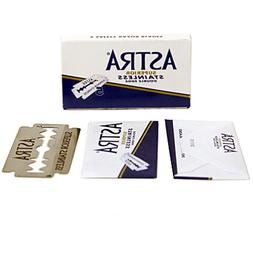 100 ASTRA Superior Stainless Blue Double Edge Safety Razor B