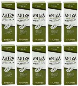 1000 pcs Astra Superior Platinum Double Edge Shaving Razor B