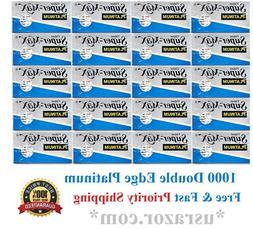 1000 Super Max Platinum Double Edge Razor Blades FREE PRIORI