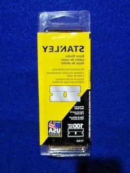 "STANLEY 11-515 1-1/2"" SINGLE EDGE RAZOR BLADES PACK OF 100"