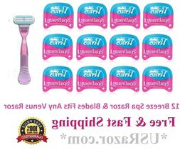 ^12 Gillette Venus Breeze Spa Blades Refill Cartridge Women