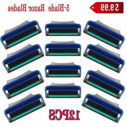 12X Men Portable 5-Blade System Flexible Fusion Refill Razor