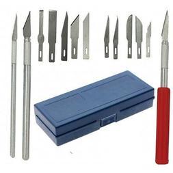 13pc/set Hobby Razor Blade w/ Case Exacto Blades Craft knife