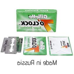 25 7 O'clock Double Edge Safety Razor Blades made in Russia