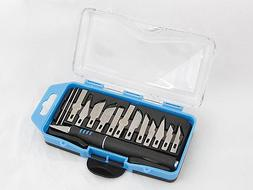 16 PC PRECISION KNIFE SET RAZOR BLADE EXACTO CUTTING TOOL AR