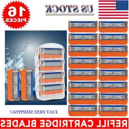 16Pcs for Gillette Fusion 5-Layer Men's Razor Blade Refills