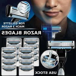 16Pcs Men Razor Blades for Gillette MACH 3 Shaver Shaving Re
