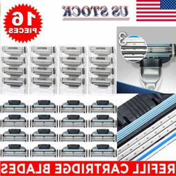 16Pcs Men Razor Blades for Gillette MACH 3 Shaver Shaving Ca