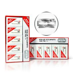 2 Pack x Dorco ST301 Platinum Extra Double Edge Razor Blades
