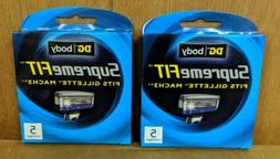 2 packs of Supreme Fits Mach3 Razor Blades - 5 cartridges ea