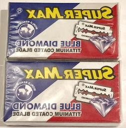 20 Super-Max Blue Diamond Titanium Double Edge Safety Razor