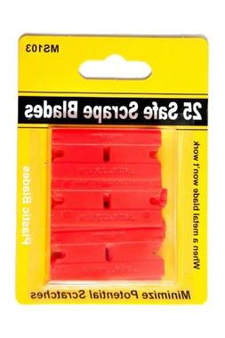 MINISCRAPER 25 Plastic Razor Blades Double Edge Safe Scrape