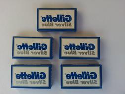 25 Silver Blue Double Edge Razor Blades Made in Russia by 7