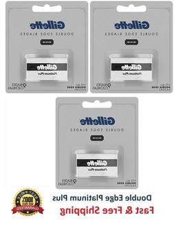 27 Gillette Double Edge Razor Blades Platinum Plus Safety Re