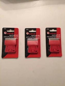 3 Pack: Red Devil 3224 Mini Glass Scraper