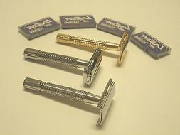 3 PCS OLD FASHION VINTAGE CLASSIC SAFETY RAZORS + 20 RAZOR B