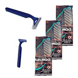 30X Disposable Razors Twin Blades Hair Removal Trimmer Shave