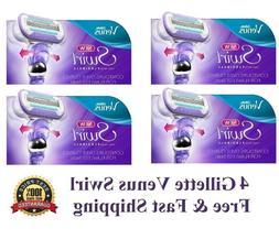 4 Gillette Venus Swirl Razor Blades Flex Ball Cartridge Refi