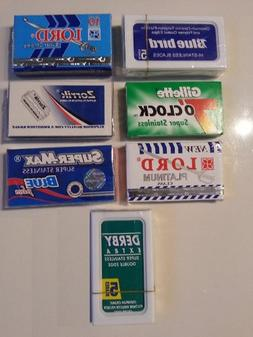 40 DE Blade Sampler Pack DERBY LORD 7 O'clock BLUEBIRD ZORRI