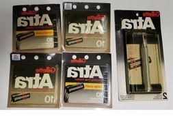 42 gillette atra razor blades metal shaver