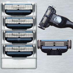 4pcs New 3 Blades System Men Face Shaving Razor Blade Shaver