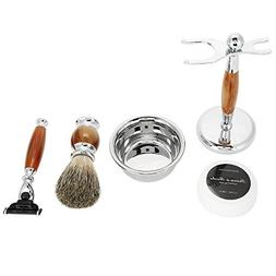 5 IN 1 Beard Shaving Tool, Men Safety Razor Brush Bowl Soap