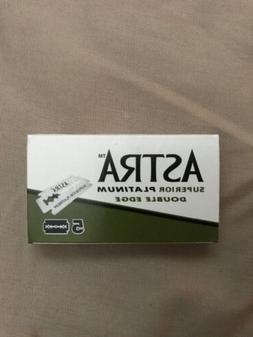 5 Astra DE Platinum Double Edged Razor Blades New Free Shipp